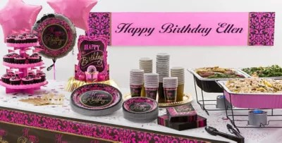 Damask Birthday Party Supplies