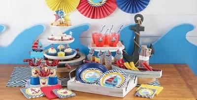 Ahoy Nautical 1st Birthday Party Supplies