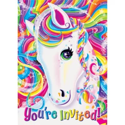 Lisa Frank Rainbow Horse Invitations 8ct Party City