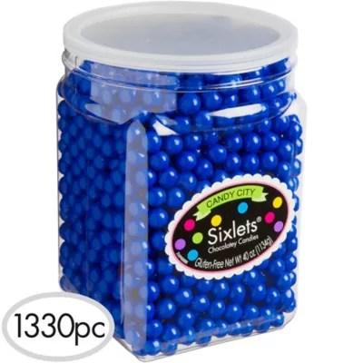 Royal Blue Chocolate Sixlets 1330pc Party City