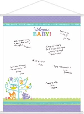 Woodland Baby Shower Sign In Sheet 19in X 24in Party City