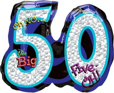 50th Birthday Balloon Giant Oh No Party City