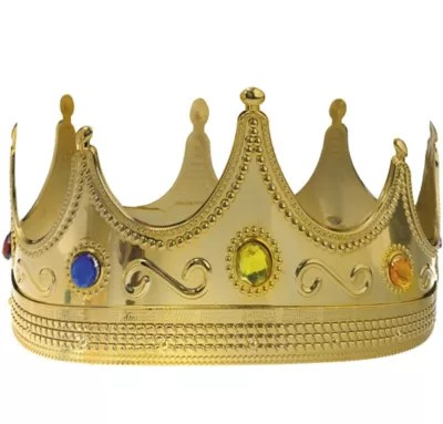 Adult Jeweled King Crown 8in X 4 1 2in Party City