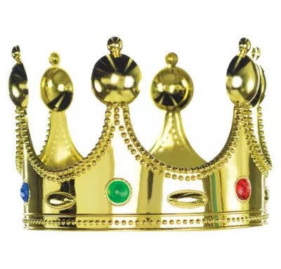 Child Jeweled King Crown 7in X 5in Party City