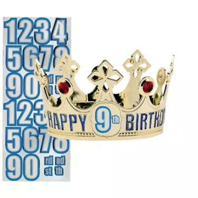 Child Personalized Gold Happy Birthday Crown Kit 5in X 2 1 2in Party City