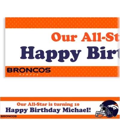 Custom Denver Broncos Banner 6ft Party City