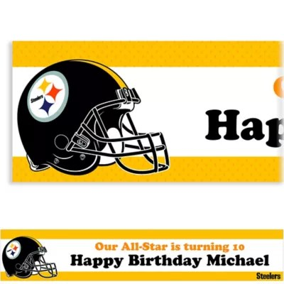 Custom Pittsburgh Steelers Banner 6ft Party City