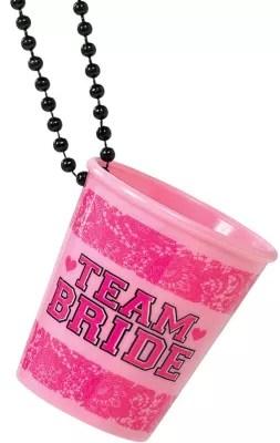 Team Bride Shot Glass Necklaces 6ct Party City