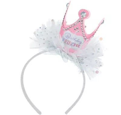 Pink Birthday Princess Crown Headband 3in X 3 1 2in Party City