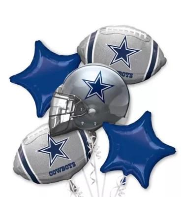 Dallas Cowboys Football Balloon Bouquet 5pc Party City