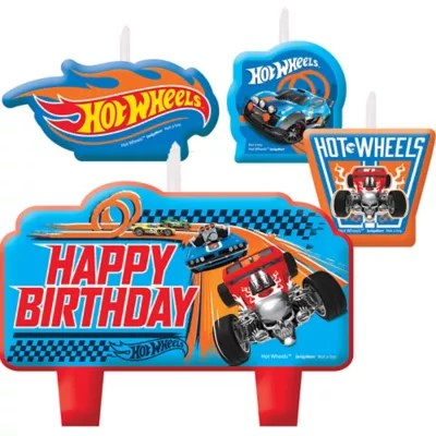 Hot Wheels Birthday Candles 4ct Party City