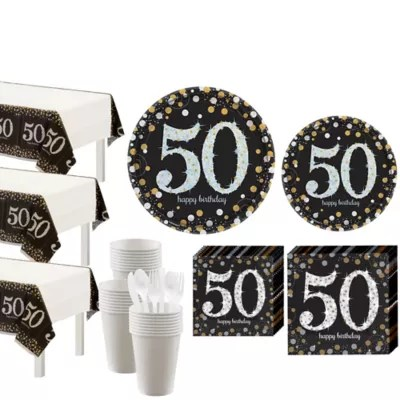 Sparkling Celebration 50th Birthday Party Kit For 32 Guests Happy Birthday Themes Party City