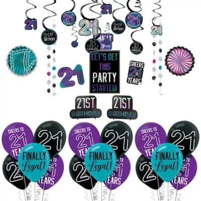 Finally 21 Birthday Decorating Kit Party City