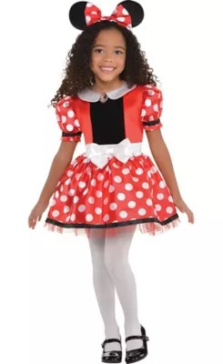Girls Red Minnie Mouse Costume Party City