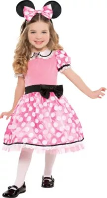 Girls Minnie Mouse Costume Deluxe Party City