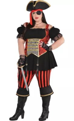 Adult Lassie Lady Pirate Costume Plus Size Party City