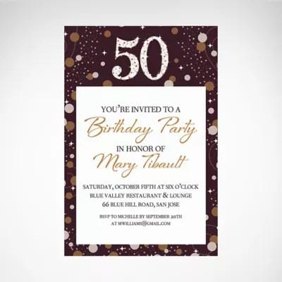 custom birthday party invites party city