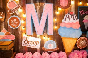 Maggie's Vintage Ice Cream Shoppe Themed Party – 3rd Birthday