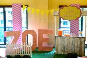 Zoe's Lemonade and Cupcakes Themed Party – 7Th birthday