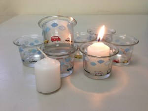 Aedan's DIY Baptismal Candles