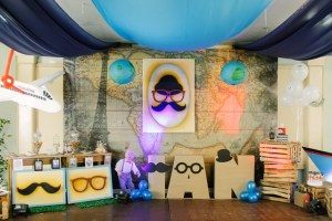 Ian's Little Man Traveller themed party – 2nd Birthday