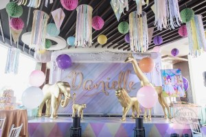 Danielle's Artsy Geometric Jungle Safari Themed Party – 1st Birthday