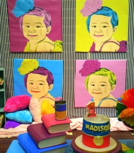 Maddie's Andy Warhol Pop Art Themed Party – 1st Birthday