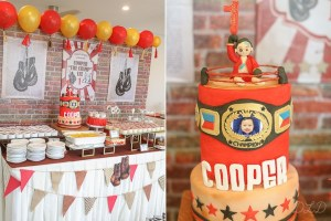 Cooper's Vintage Boxing Themed Party – 1st Birthday