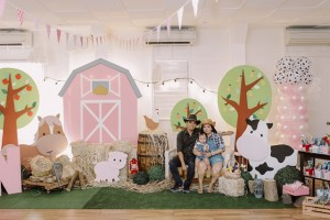 Lauren's Pretty in Pink Barnyard Themed Party – 1st Birthday