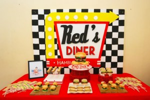 Red's Burger Diner Themed Party – 1st Birthday