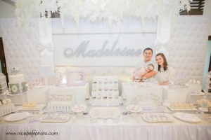 Madeleine's Charming White and Gray Baptismal Celebration