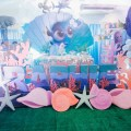 finding dory theme party stage dessert spread