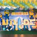 minions pool party stage