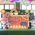 trolls theme party stage