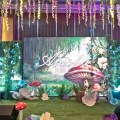 enchanted forest theme party stage