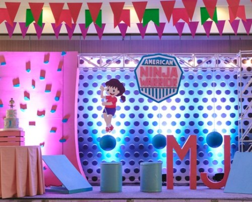 MJ's Chic American Ninja Warrior Themed Party – 1st Birthday