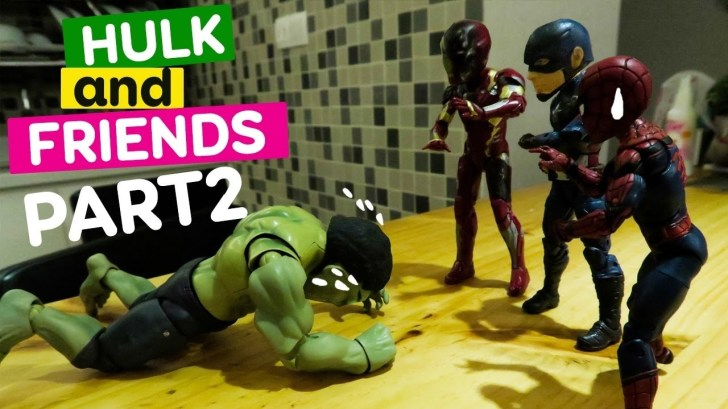 HUGE-HULK-Spiderman-and-Superhero-STOP-MOTION-Action-Video-Part-2-Hulk-and-Friends