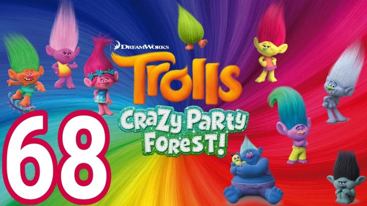 Trolls-Crazy-Party-Forest-68-level-45-UNLOCK-NEW-AREA-AndroidIOS-gameplay