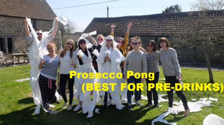 Prosecco Pong (BEST FOR PRE-DRINKS)