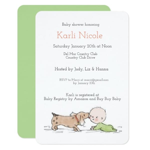 Puppy Kisses Baby Shower Themes