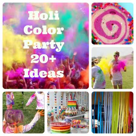 Party ideas holi spring color festival party ideas for Holi decorations at home