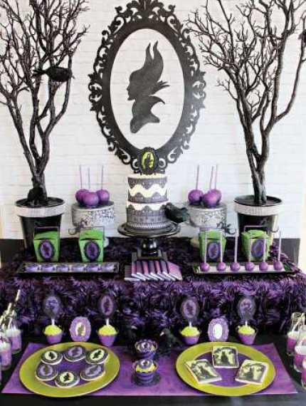 maleficent-party-dessert-table