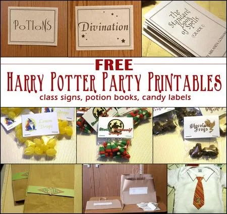 harry potter party ideas crafts free harry potter printables ideas 6695