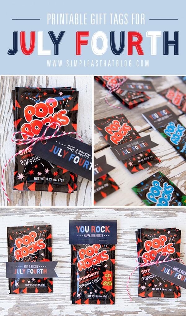 Pop Rocks party favors
