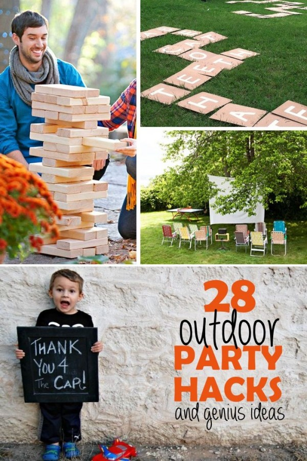 28 Outdoor Party Hacks