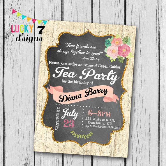 Perk up your book club with an anne of green gables tea for Anne of green gables crafts
