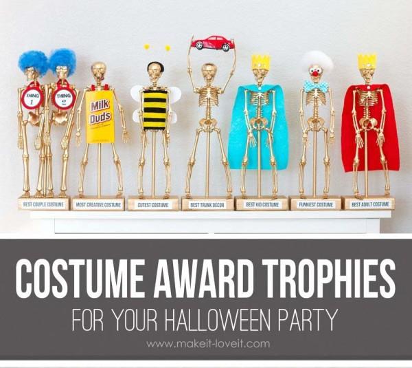 diy halloween costume award trophies