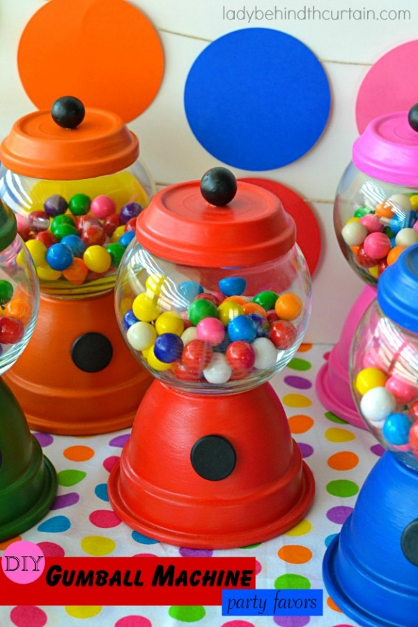 Diy Gumball Machine Party Favors Party Ideas