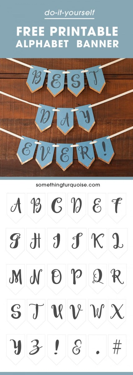 Free Printable Full Alphabet Banner - Party Ideas
