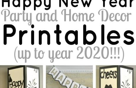 Last Minute Party? Print These Decorations